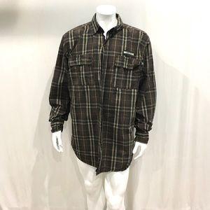 Harley Davidson Mens Brown Shirt Jacket